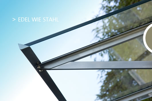 objektdesign thomas schimmel vordach mit regenrinne edelstahl glas. Black Bedroom Furniture Sets. Home Design Ideas